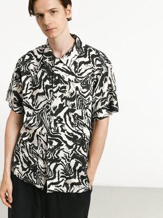Košile Brixton Lovitz (washed black/bone)