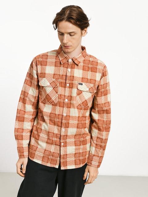 Košile Brixton Bowery Lw Flannel (auburn)