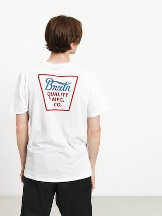 Tričko Brixton Potrero Prem (white/red)