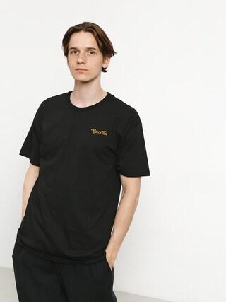 Tričko Brixton Grade III Stt (black/gold)