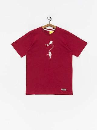 Tričko Diamante Wear My Life (burgundy)