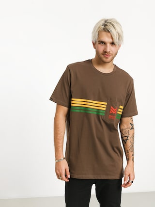 Tričko Malita Stripes (brown)