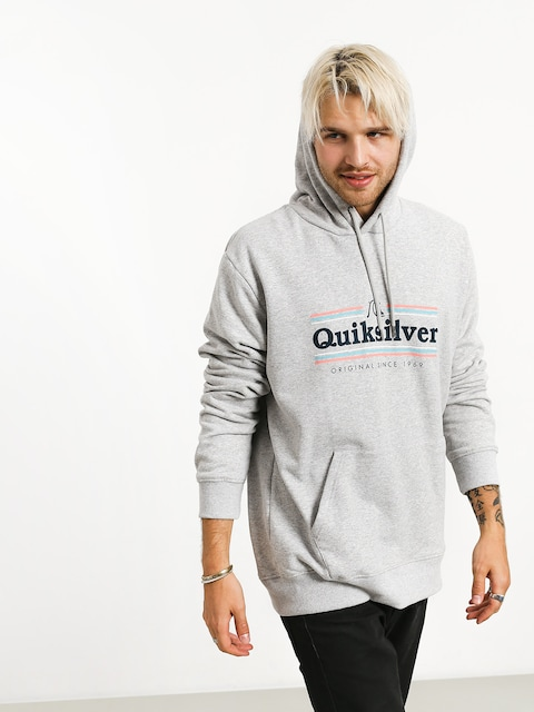 Mikina s kapucí Quiksilver Get Buzzy Screen Fleece HD (athletic heather)