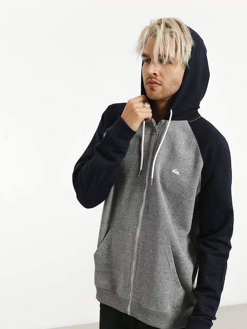 Mikina s kapucí Quiksilver Everyday ZHD (light grey heather/navy blazer)