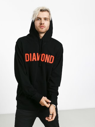 Mikina s kapucí Diamond Supply Co. Diamond French Terry (black)