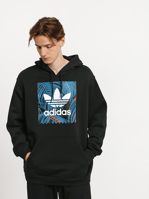Mikina s kapucí adidas Bb Print HD (black/active teal/active orange)