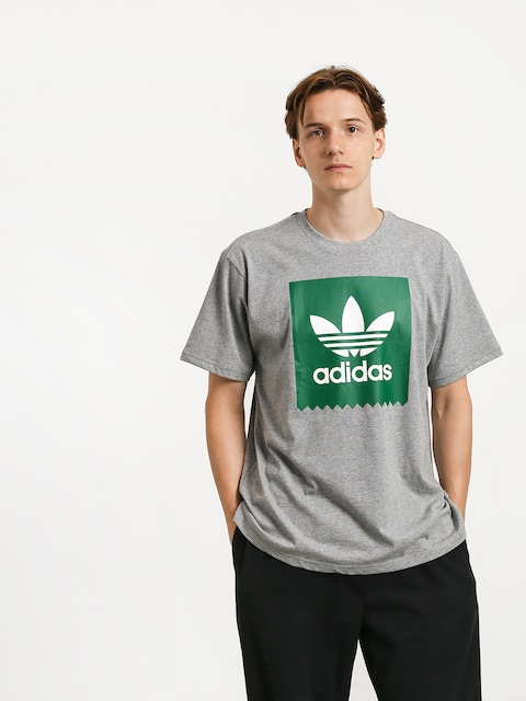 Tričko adidas Solid Bb (core heather/bold green)