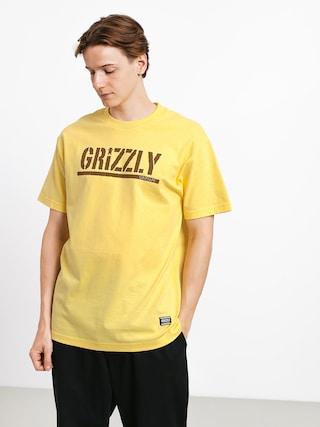 Tričko Grizzly Griptape Stamp (banana/brown)
