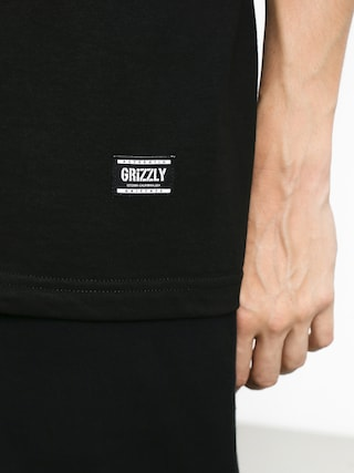 Tričko Grizzly Griptape Stamp (black/white)
