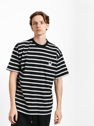 Tričko Polar Skate Stripe Pocket (black)
