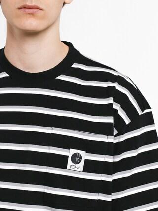 Tričko Polar Skate Stripe Pocket (black)