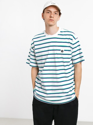 Tričko Polar Skate Stripe Pocket (white)