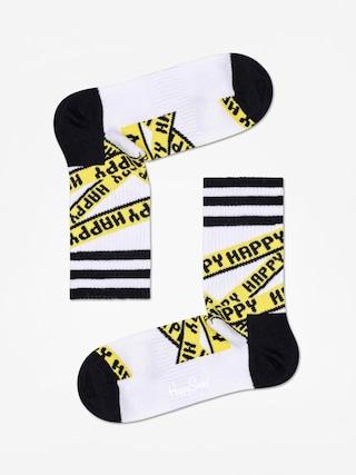 Ponožky Happy Socks Athletic Ribbon Mid High (white/black)