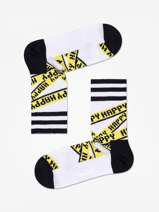 Ponožky Happy Socks Athletic Ribbon Mid High (white/black)