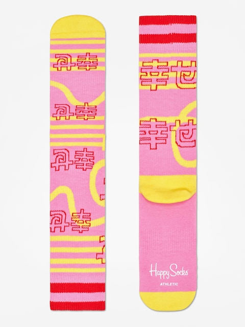 Ponožky Happy Socks Athletic Japan (pink)
