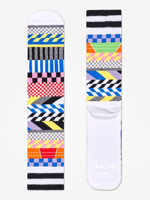 Ponožky Happy Socks Athletic Checked Stripe (white/multi)