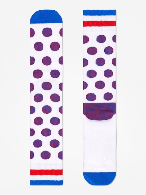 Ponožky Happy Socks Athletic Big Dot (white)
