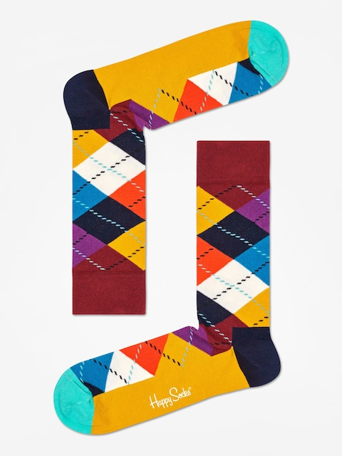 Ponožky Happy Socks Argyle (brown/gold/multi)