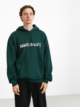 Mikina s kapucí Polar Skate Skatelife HD (dark green)