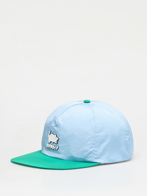 Kšiltovka  RipNDip Two Nerms Poly 5 Panel Rope (blue/green)