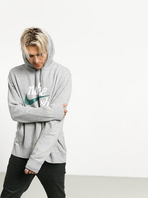 Mikina s kapucí Nike SB Washed Icon HD (dk grey heather/summit white/bicoastal)