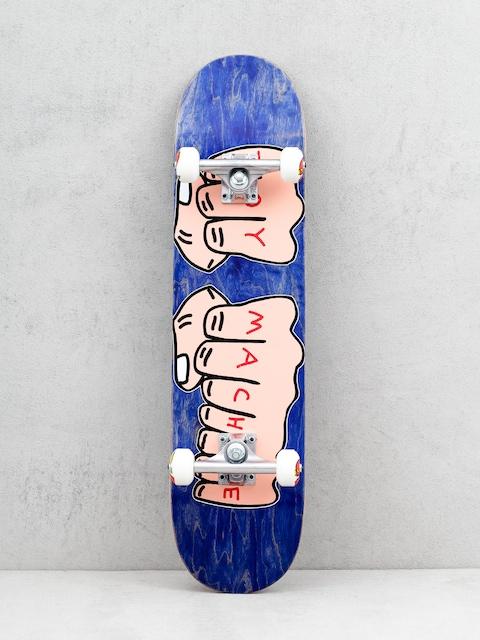 Skateboard Toy Machine Fists Woodgrain (navy)