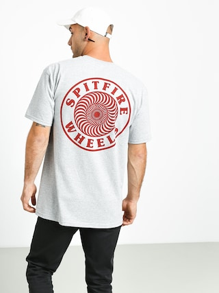 Tričko Spitfire Og Circle Outline (athletic heather/maroon)