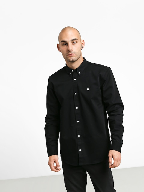 Košile Carhartt WIP Madison (black/white)