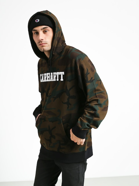 Mikina s kapucí Carhartt WIP College HD (camo evergreen/white)