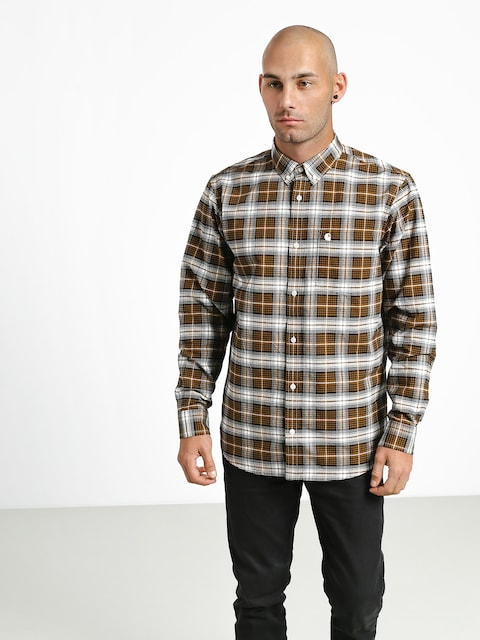 Košile Carhartt WIP Linville (linville check hamilton brown/wax)