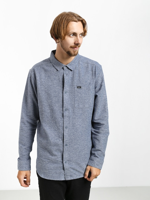 Košile RVCA Blackand Flannel L (china blue)