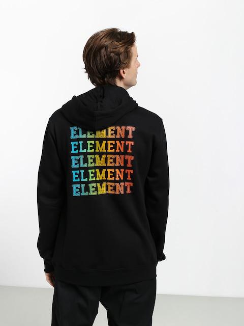 Mikina s kapucí Element Drop HD (flint black)