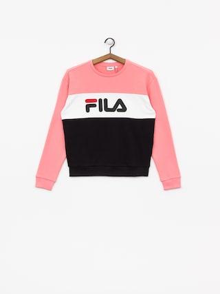 Mikina Fila Leah Crew Wmn (black/quarz pink/bright white)