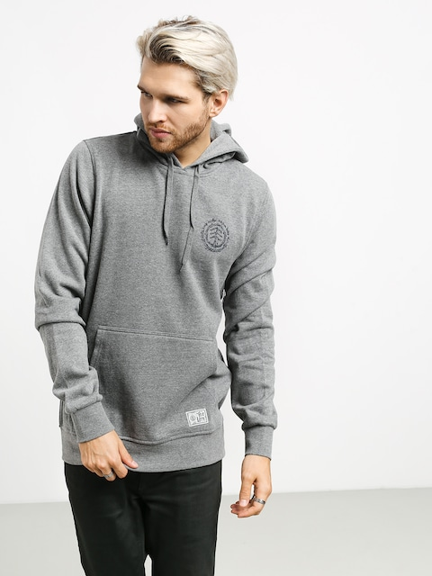 Mikina s kapucí Element Too Late Logo HD (grey heather)