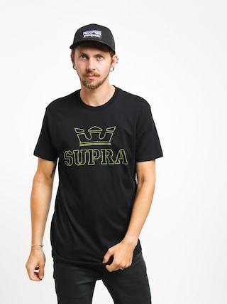 Tričko Supra Above Regular (black/hi vis)