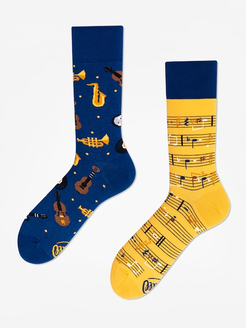 Ponožky Many Mornings Music Notes (blue/yellow)