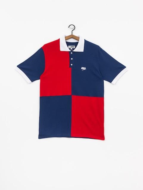 Polo tričko Koka Chess (navy)