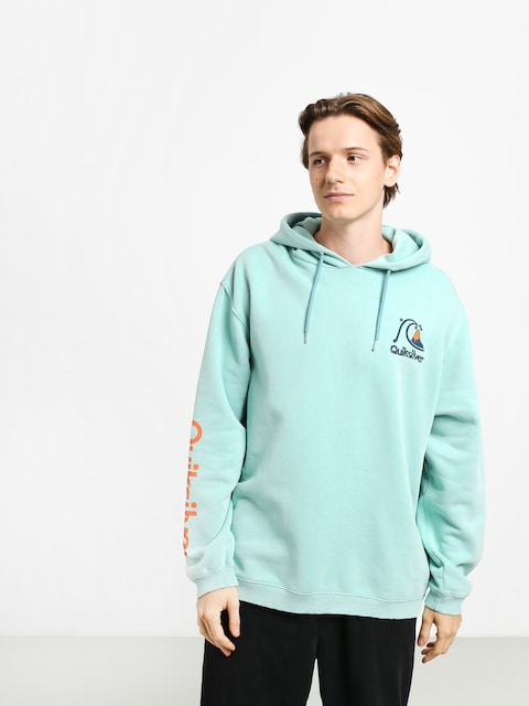 Mikina s kapucí Quiksilver Sweet As Slab HD (pastel turquoise)