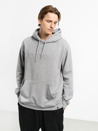 Mikina s kapucí Quiksilver Emboss HD (medium grey heather)