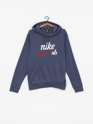 Mikina s kapucí Nike SB Washed Icon HD (obsidian/summit white/team red)