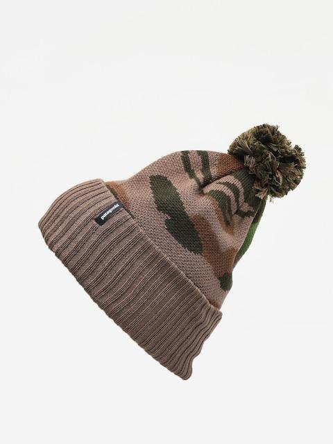 Čepice Patagonia Powder Town Beanie (bear witness knit/sage khaki)