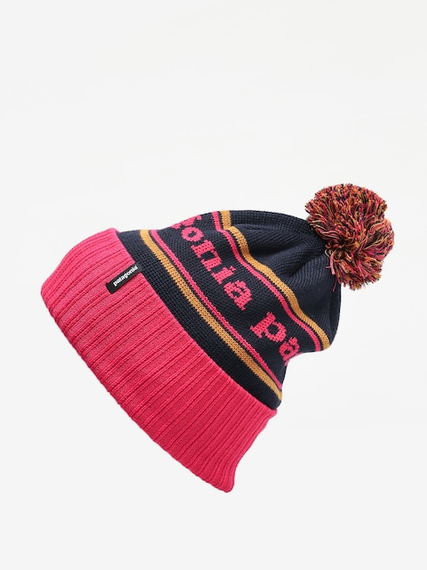 Čepice Patagonia Powder Town Beanie (park stripe/craft pink w/navy blue)