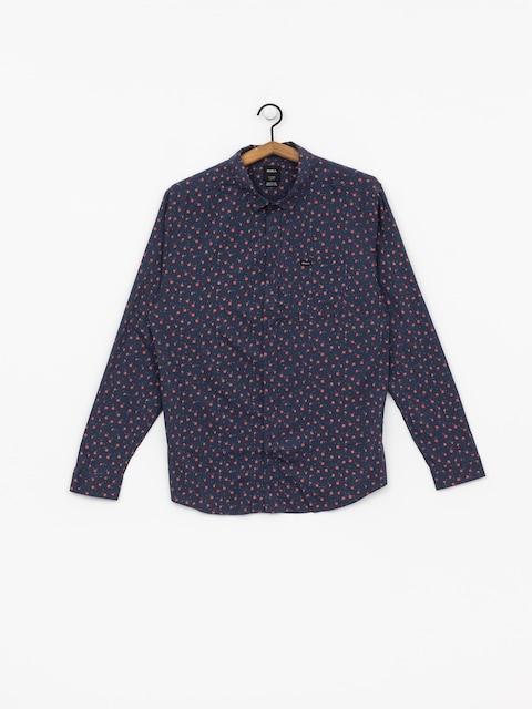 Košile RVCA Prelude Floral Ls (moody blue)