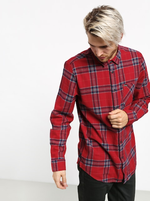 Košile Volcom Caden Plaid (engine red)