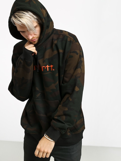 Mikina s kapucí Carhartt WIP Carhartt HD (camo evergreen/brick orange)