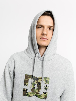Mikina s kapucí DC Star HD (grey heather/camo)