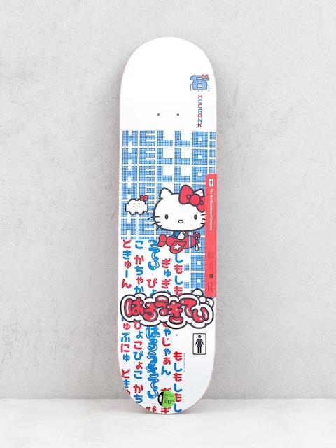 Deska Girl Skateboard Mccrank Hello Kitty (white)
