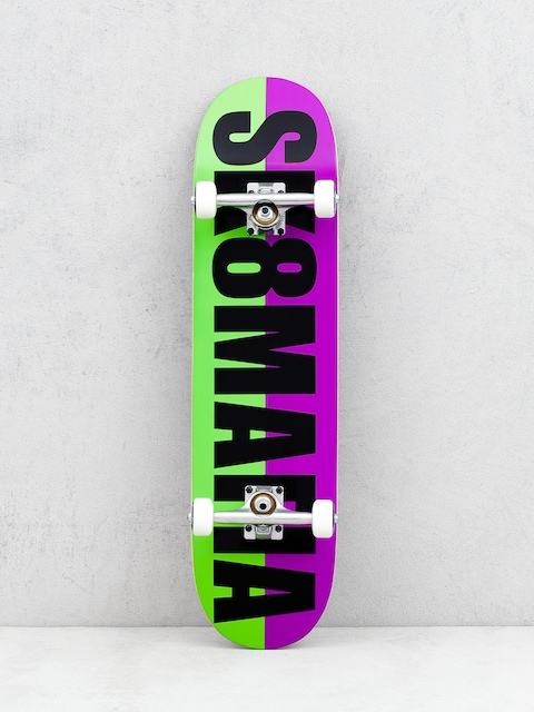 Skateboard Sk8Mafia Og Logo Split (purple/green)