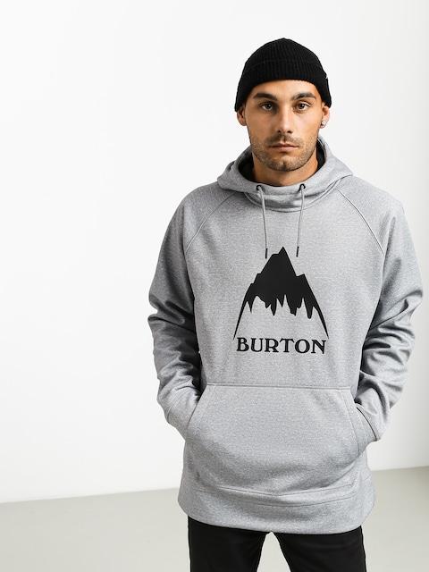 Mikina s kapucí Burton Crown Bndd HD (gray heather)