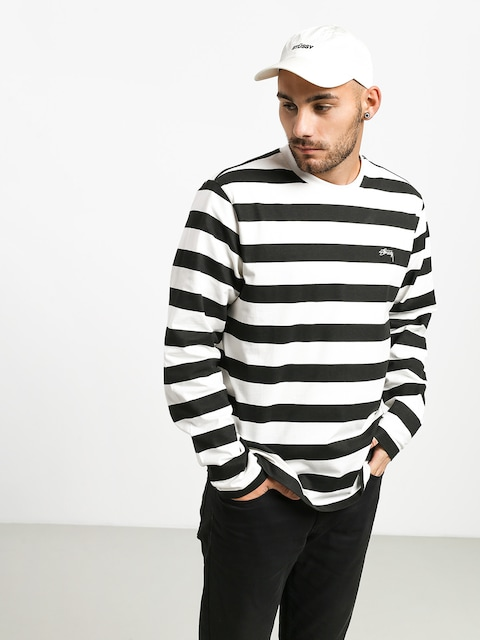 Triko Stussy Printed Stripe (black)